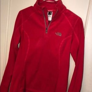 Pink north face pullover